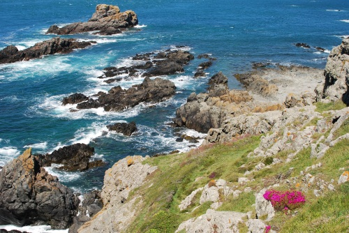 Rocky coast of Guernsey